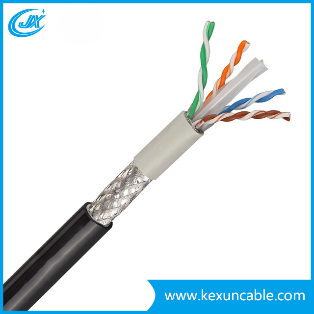 China Factory 305m Pass Test Indoor PVC Jacket 4 Pair UTPFTP CAT6 LAN Cable