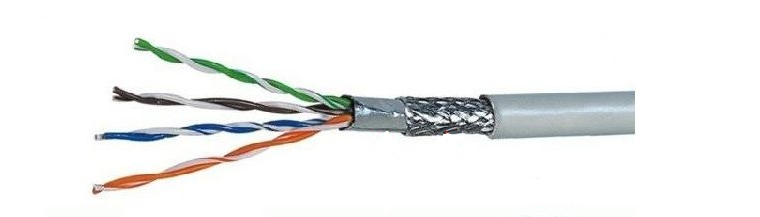 OEM Factory Cat5e FTP SFTP Network Cable Power Communication Cable with Grey Color