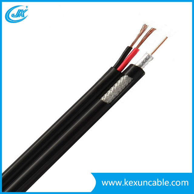 Professional Manufacturer RG6 TV Cable Coaxial Cable Setllite Cable with Power Cable