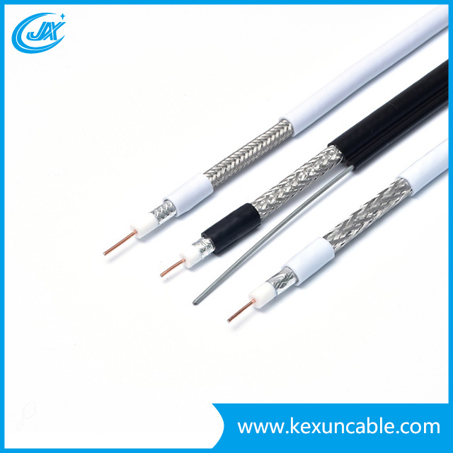 Copper or CCS Conductor RG6 Communication Satellite Antenna Cable with 112*0.12 Braiding